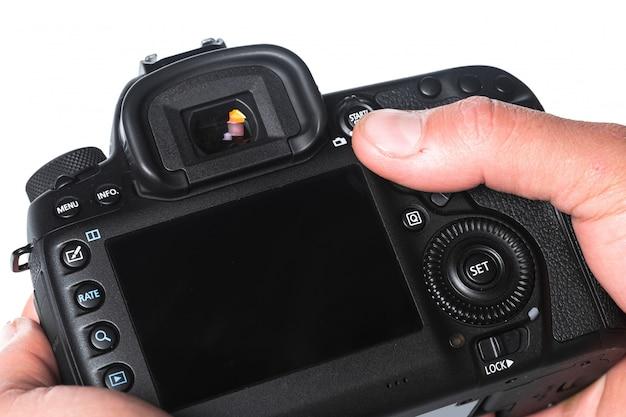 Close-up beeld van digitale camera Premium Foto