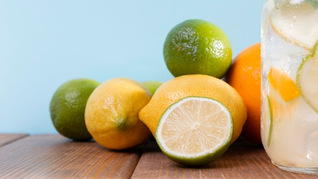 Close-up citrusvruchten Gratis Foto