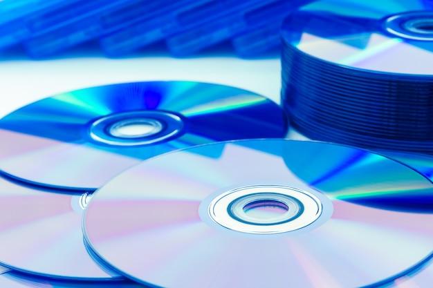 Close-up compact discs (cd / dvd) Premium Foto