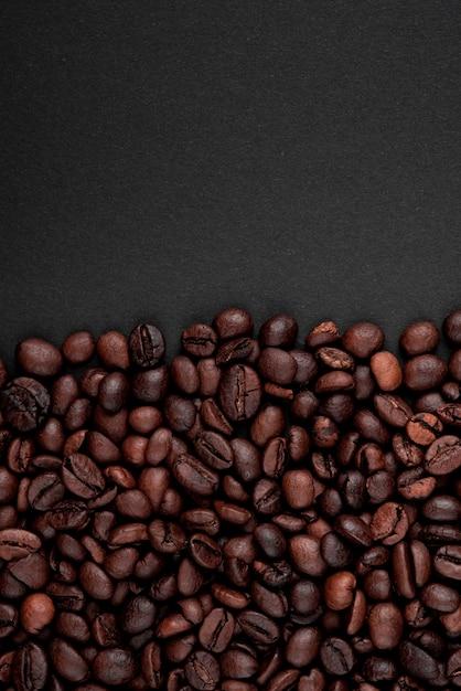 Close-up geroosterde koffiebonen Gratis Foto