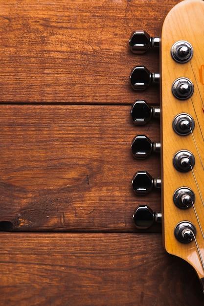 Close-up gitaar kop Gratis Foto