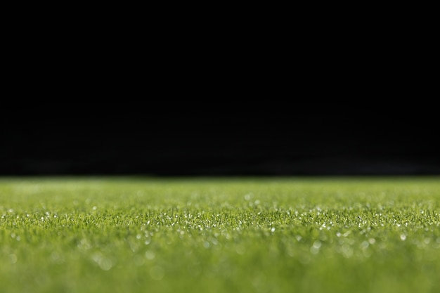 Close-up groen voetbalveld Gratis Foto