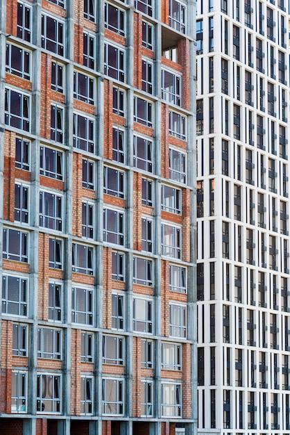 Close-up high-rise gebouw in aanbouw Gratis Foto