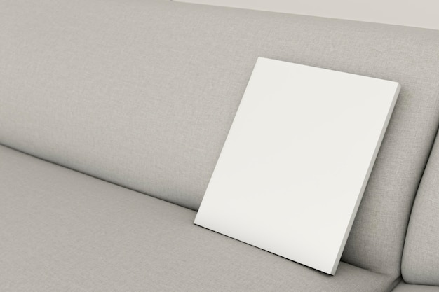 Close-up minimalistische interieur sofa met frame Gratis Foto