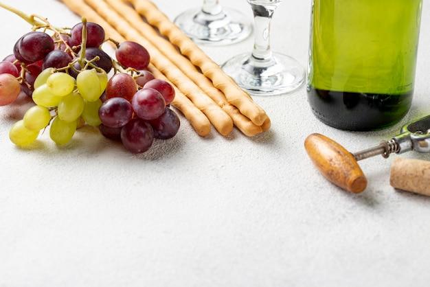 Close-up organische druiven voor wijn Gratis Foto