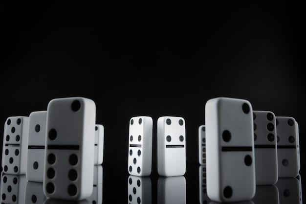 Close up van domino stukken Premium Foto