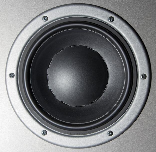 Close-up van een luidspreker Premium Foto