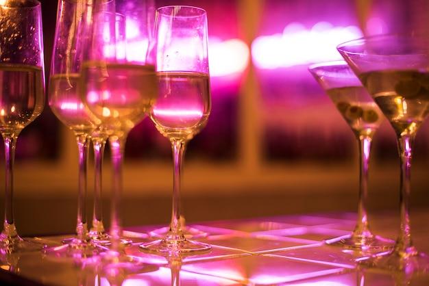 Close-up van feestdranken Gratis Foto