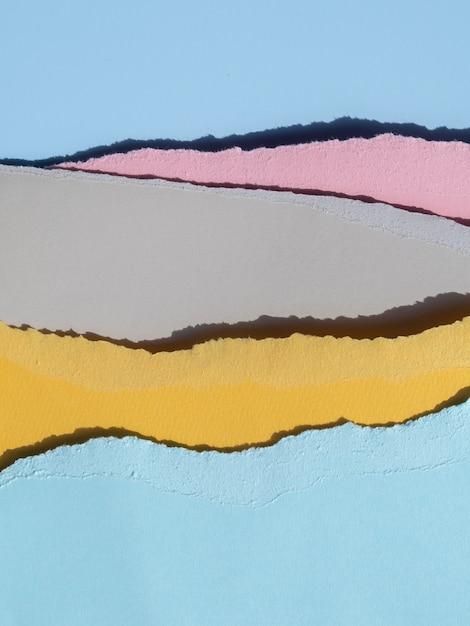Close-up van gescheurde abstracte papierlijnen Gratis Foto