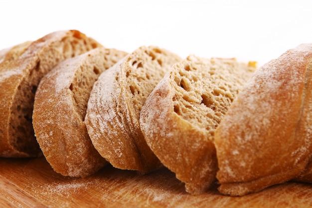 Close-up van gesneden brood Gratis Foto