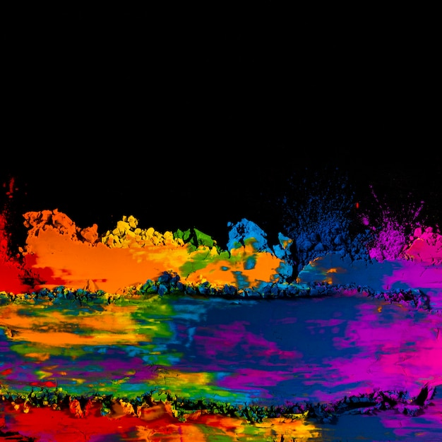 Close-up van kleurrijke gemengde holikleuren Gratis Foto