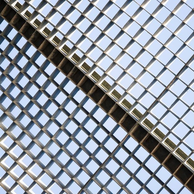 Close-up van metalen raster naadloze patroon Gratis Foto