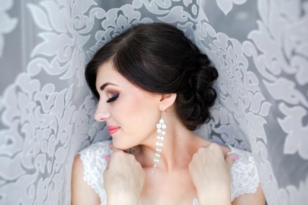 Close-up van mooie bruid Gratis Foto
