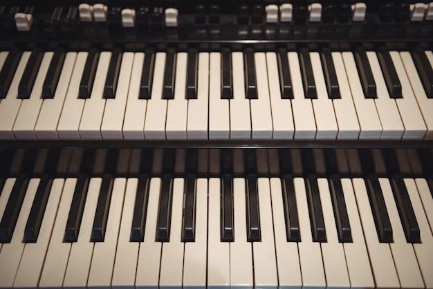 Close-up van piano klavier Gratis Foto