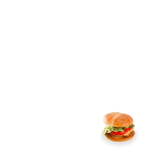 Close-up van verse hamburger op witte achtergrond Gratis Foto