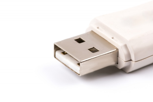 Close-up van witte usb flash drive Gratis Foto