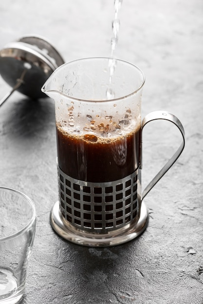 Close-up verse organische italiaanse koffie Gratis Foto