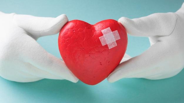 Close-up wereld hart dag concept Premium Foto