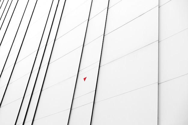 Close-up witte gevel van een modern gebouw Gratis Foto