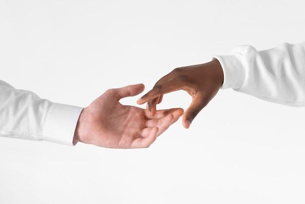 Close-up zwart-wit hand Premium Foto