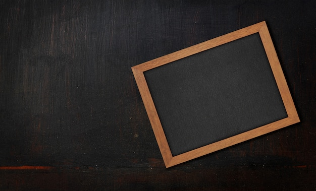 Close-up zwarte geschilderde houten textuur Premium Foto