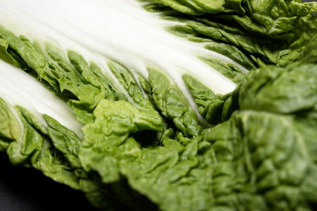 Close-upblad van salade Gratis Foto