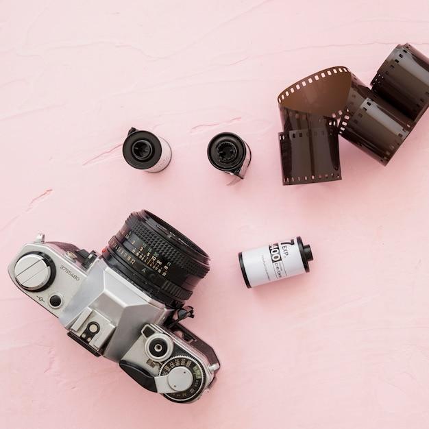 Close-upcamera dichtbij fotografische film Gratis Foto