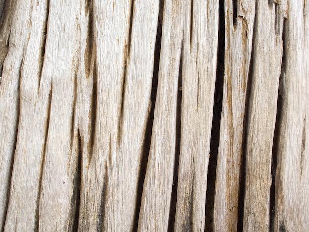 Close-updetail van geweven schors oude houten gebarsten Premium Foto