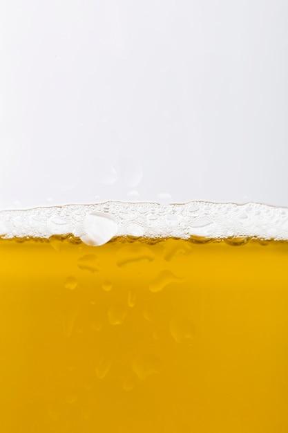 Close-upglas met bier Gratis Foto