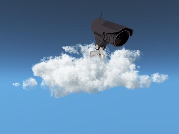 Cloud beveiligingsconcept Gratis Foto