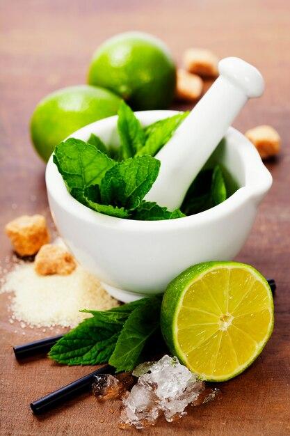 Cocktail ingrediënten Premium Foto