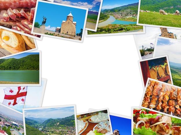 Collages georgia tbilisi. selectieve aandacht. aard stad. Premium Foto