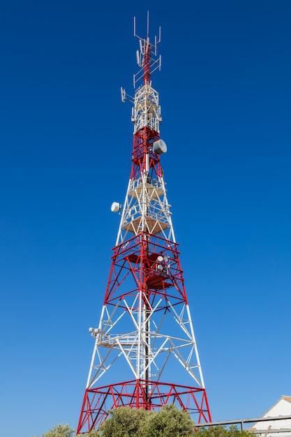 Communicatie toren Premium Foto