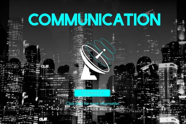 Communicatie uitzendingsverbinding telecommunicatiesatellietconcept Gratis Foto