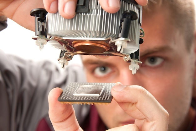 Computerondersteuningsingenieur Premium Foto