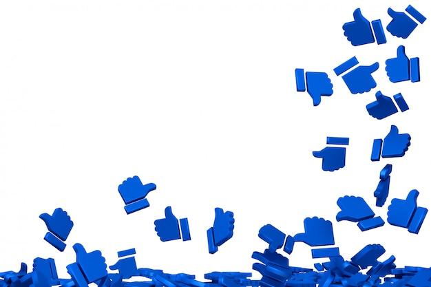 Concept art op sociale netwerken Premium Foto