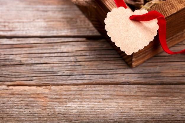 Concept vakantie valentine day.gift. Premium Foto