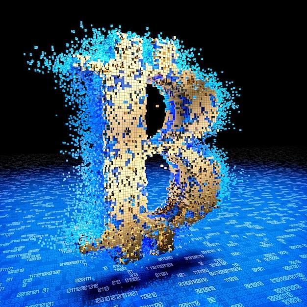 Concept van bitcoin Premium Foto