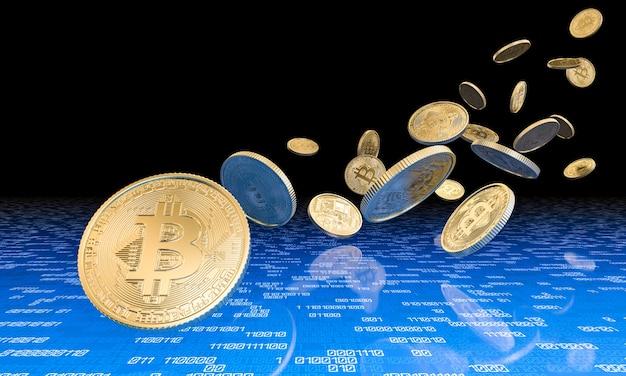 Concept van cryptocurrency Premium Foto