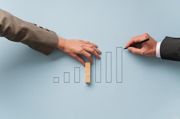 Conceptueel beeld van de economie en de financiële markt Premium Foto