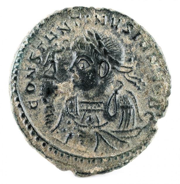 Constantijn ii. romeinse munt. Premium Foto