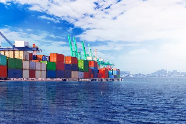 Container terminal? wharf, transport Gratis Foto