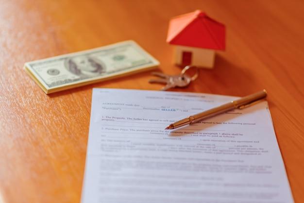 Een Nieuw Huis : Contract voor de verkoop van een nieuw huis lorem ipsum nep tekst