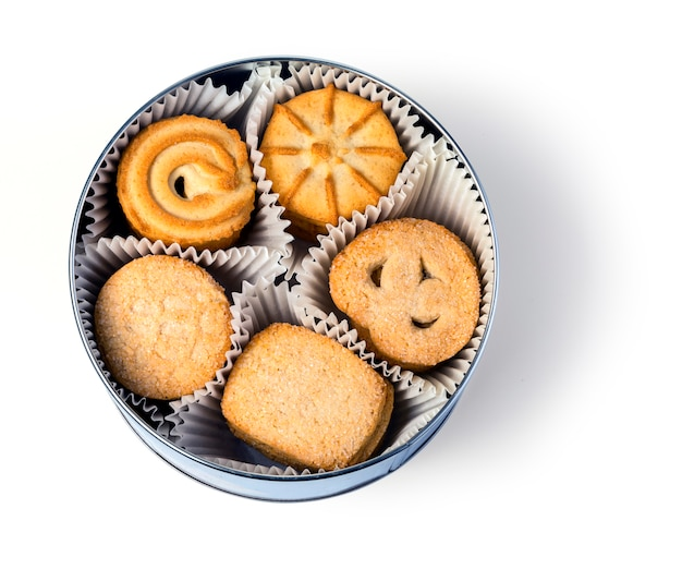 Cookies in doos Premium Foto