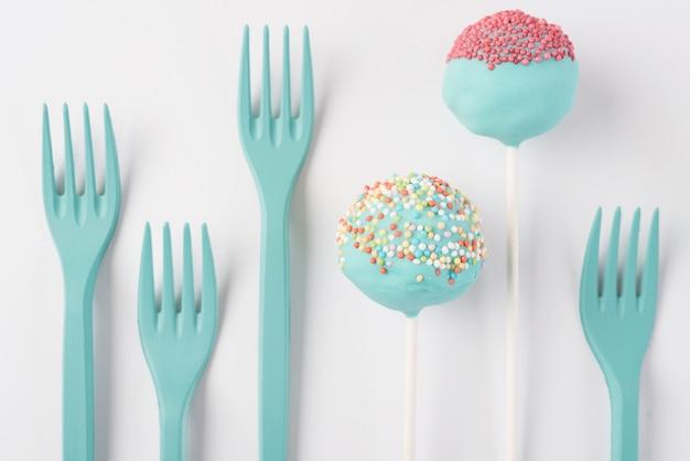 Creatief cakepop concept Gratis Foto