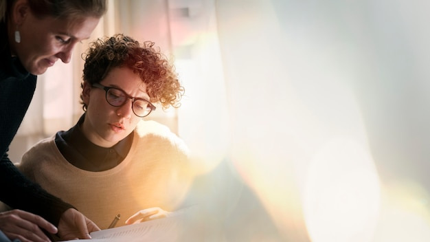 Creatief commercieel team Premium Foto