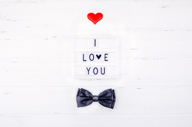 Creatieve valentine-dag romantische samenstelling Premium Foto