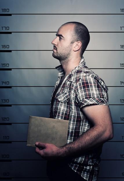 Crimineel portret Premium Foto