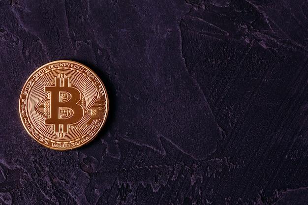Crypto-valuta, bitcoin met kopie ruimte Premium Foto