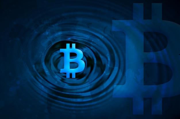 Cryptocurrency bitcoin block chain photo Premium Foto